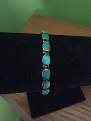 Turquoise and Sterling silver bracelet for Sale in Washington, PA