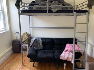 Loft bed and futon. for Sale in Burlington, NJ