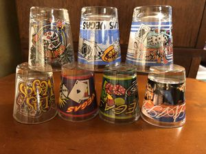 Las Vegas Shot Glasses - $1 ea. for Sale in San Antonio, TX