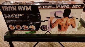 Iron Gym Total Upper Body Workout Bar for Sale in Glen Ridge, NJ