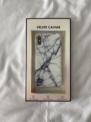 White And Black Marble Detail iPhone XS Case for Sale in Pasco, WA