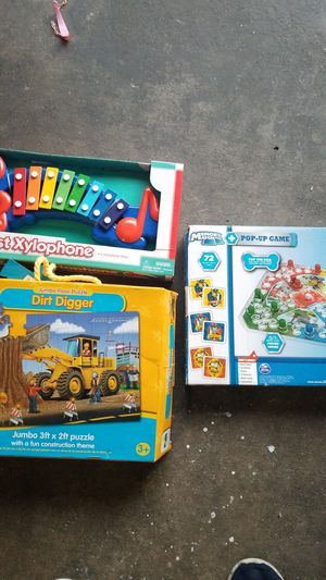Puzzle, xylophone & memory match game for Sale in San Diego, CA