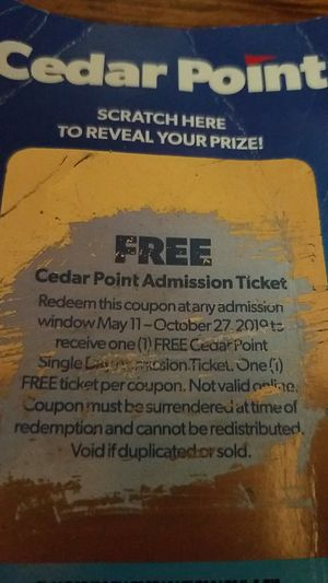 $25 cedar point admission ticket for Sale in MIDDLEBRG HTS, OH