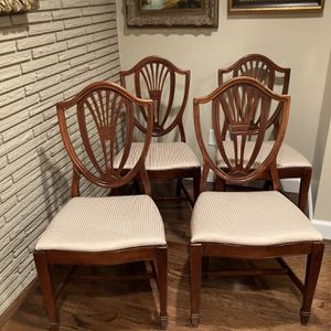 Mahogany Duncan Phyfe Style Shield Back Dining Chairs for Sale in Bellevue, WA