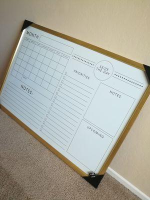 Golden Framed Monthly Calendar Whiteboard Wall Decor for Sale in Sunnyvale, CA