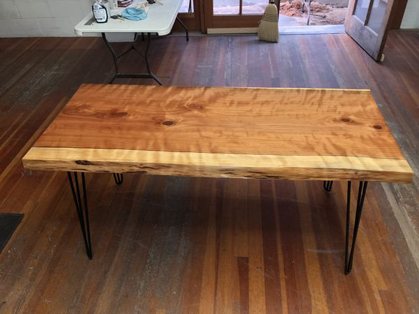 Live Edge Redwood Slab Table