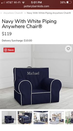 Pottery Barn kids chair for Sale in San Antonio, TX