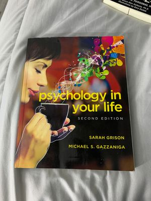 Psychology in Your Life: 2nd Edition for Sale in Glendora, CA