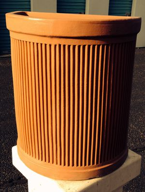 Top quality half round column pot from Italy H22W19D11 inch for Sale in Chandler, AZ