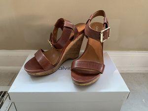 Calvin Klein wedge heel sandals size 7.5 for Sale in Springfield, VA
