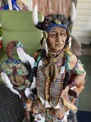 "Native american statue by Collections Etc. Very good condition no chips. Approximately 17"" x 8"" fantastic details for Sale in Bradenton, FL"