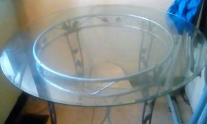 Must go asap Circle thick glass table for Sale in Philadelphia, PA