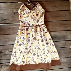 Speechless Halter Top Sun Dress 5 Yellow White Brown for Sale in Denver, CO