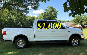 $1,OOO For sale URGENT 2OO2 Ford F-150 XLT Super Crew Cab 4-Door Pickup Everything is working great! Runs great and fun to drive!!!! for Sale in Billings, MT