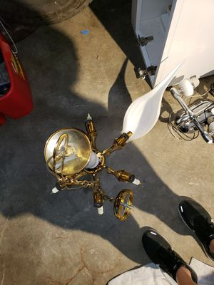 GOLD PLATED chandelier for Sale in Seattle, WA