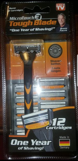 MICROTOUCH TOUGH BLADE ONE YEAR OF SHAVING MENS RAZOR 12 CARTRIDGES for Sale in Greenwood, IN