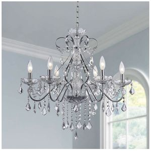 Crystal Chandelier Ceiling Lighting Fixture Large for Sale in Azusa, CA