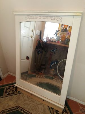 Solid wood mirror for dresser or hand on wall for Sale in Winchester, CA