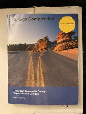 College Composition 2 English 112 for Sale in Virginia Beach, VA