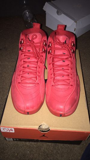All red Air Jordan's #12 size 9 1/2 for Sale in Dallas, TX