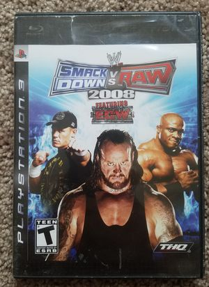 Smackdown vs raw ps3 game for Sale in Tuscola, TX
