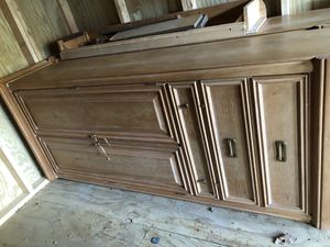 Bed frame with armoire for Sale in Mt. Juliet, TN