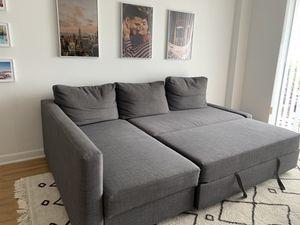 FRIHETEN Sleeper sectional,3 seat w/storage, Skiftebo dark gray for Sale in North Miami, FL
