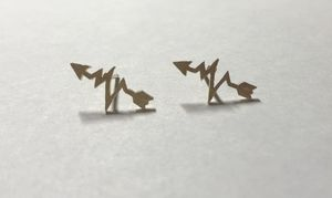 Gold arrow EKG earrings NEW for Sale in Coral Springs, FL