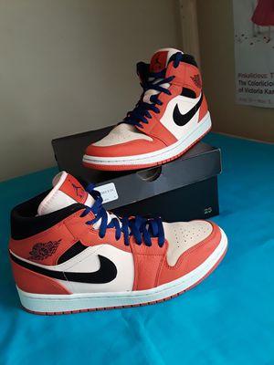 Men's Nike Air Jordan 1 Retro Team Orange Black Crimson Tint Size 10 for Sale in Marietta, GA