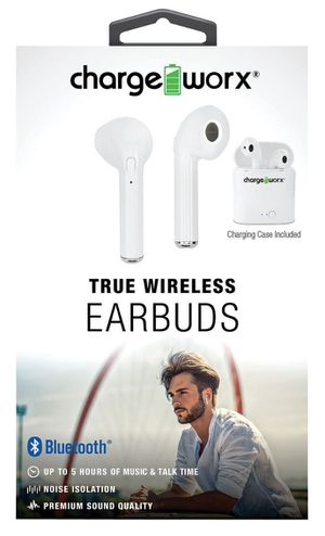 CHARGEWORX White True Wireless Earbuds for Sale in Suitland, MD