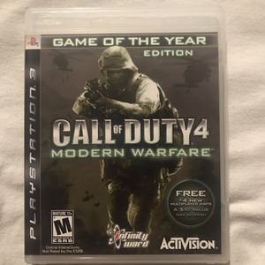 Call of Duty 4 Modern Warfare Game of the Year Edition for PS3 for Sale in Irwindale, CA