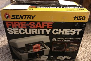 SentrySafe 1150 1/2 Hour FIRE-Safe Chest, 0.30 Cubic Feet, Dove Gray for Sale in Fresno, CA