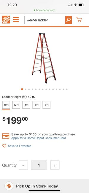 Werner ladders like new 8' and 10' $200 FIRM no less for Sale in Laton, CA