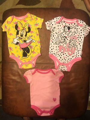 Disney baby onesies 3-6;months for Sale in Baltimore, MD