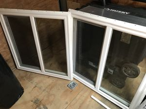 Vinyl windows (2) for Sale in Freedom, PA