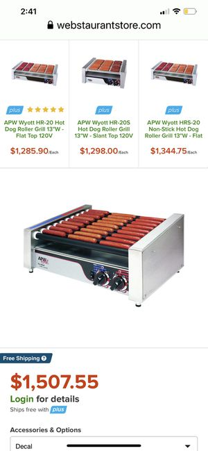 $250 Commercial Snack Bar Hot Dog /Kinks Grill for Sale in San Dimas, CA