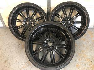 275 /25/zr24 Black Rims for Sale in Moreno Valley, CA