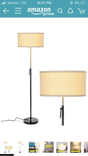 Black and Gold Modern Floor Lamp for Sale in Monterey Park, CA