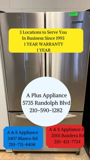 KitchenAid French Door Bottom Freezer Refrigerator 1 Year Warranty for Sale in San Antonio, TX