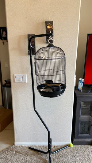 Bird cage with hanging stand for Sale in Temecula, CA