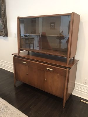 """Rare Mid-Century Modern """"Projection"""" Dining set designed by Danish Modern luminary John van Koert for Drexel the US Furniture Maker. China cabinet to for Sale in Columbus, OH"""