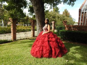 Burgendy Quinceanera dress for Sale in DW GDNS, TX