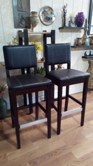 2 barstools use but new for $80 for Sale in Norcross, GA