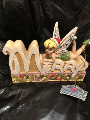 """Jim Shore Disney Traditions """"Merry"""" Word Plaque for Sale in Sandy, OR"""