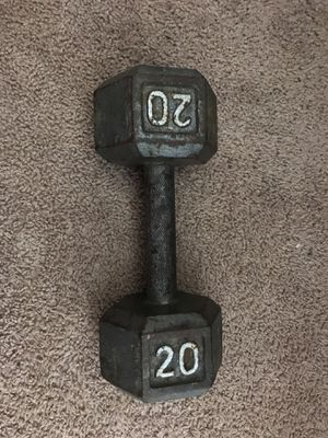 2-20lb dumbbell for Sale in Dallas, TX