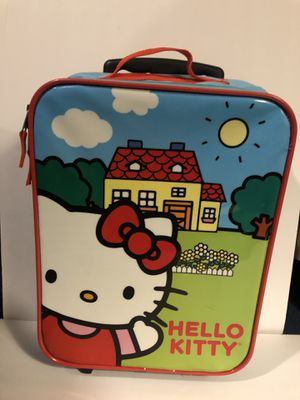 hello kitty rolling suitcase very good condition for Sale in Los Angeles, CA