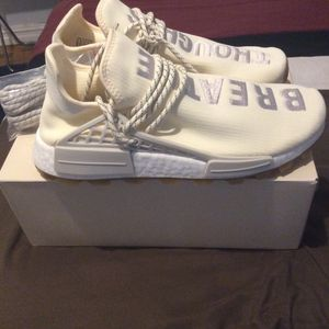 Adidas NMD Hu Trail Pharrell Now Is Her Time Cream White for Sale in New York, NY