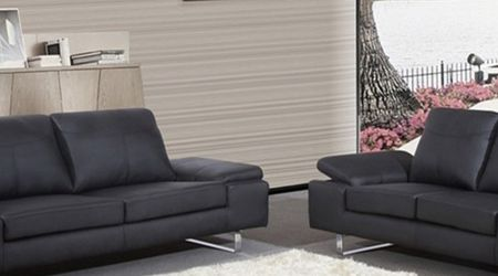 Sofa and Love Seat 2pcs Color Black for Sale in Compton,  CA