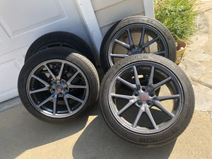 Tesla model 3 original wheels tires 4 in total OEM & TPMS for Sale in Pasadena, CA