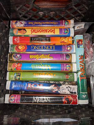 10 Walt Disney movie VHS for Sale in Pasadena, TX